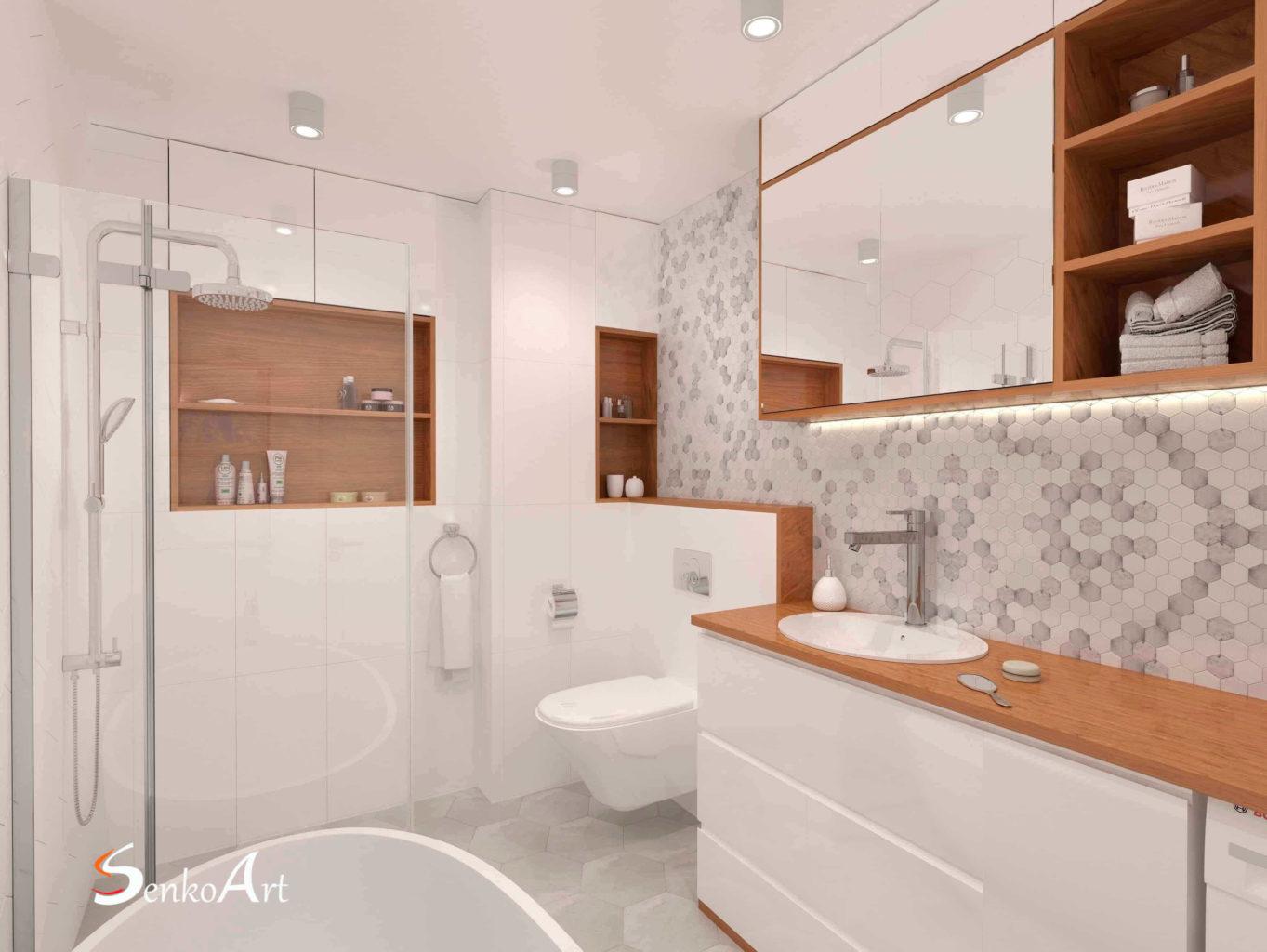 Projekt łazienki Online Wizualizacje 3d łazienki